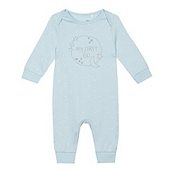 bluezoo - Baby boys' blue 'Eid' sleepsuit
