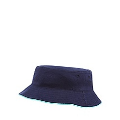 bluezoo - 'Set of 2 baby boys' navy and multi-coloured plain and patchwork hats