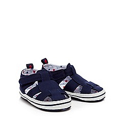 bluezoo - Baby navy jersey sandals