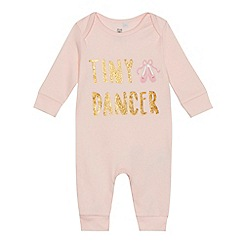 bluezoo - Baby girls' pink 'Tiny Dancer' sleepsuit