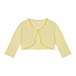 bluezoo - Baby girls' yellow pointelle cardigan