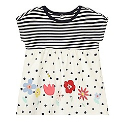 bluezoo - Baby girls' blue striped print dress
