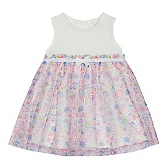 bluezoo - Baby girls' multi-coloured mesh floral dress