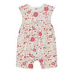 bluezoo - Baby girls' multi-coloured floral print onesie
