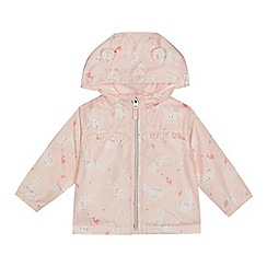 bluezoo - Baby girls' pink bunny print mac