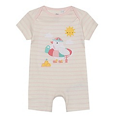 bluezoo - Baby girls' pink duck applique romper