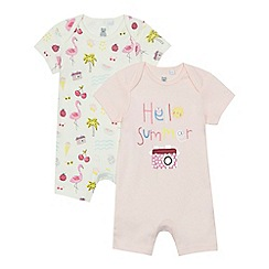 bluezoo - '2 pack baby girls' assorted summer print romper suits