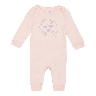 c3aa012da bluezoo Baby girls  pink  My First Eid  long sleeve sleepsuit ...