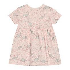 bluezoo - 'Baby girls' pink dinosaur print jersey dress