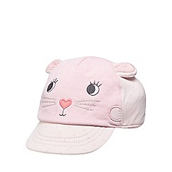 bluezoo - Baby girls' pink cat cap