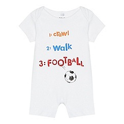 bluezoo - Baby boys' white 'Football' print sleepsuit