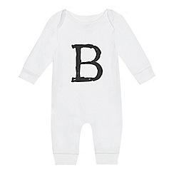 bluezoo - Babies' white 'B' print sleepsuit