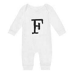 bluezoo - Babies' white 'F' print sleepsuit
