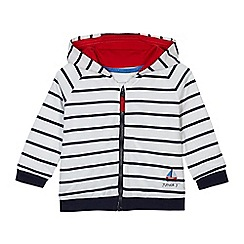 J by Jasper Conran - Baby girls' off white striped print hoodie
