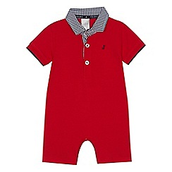 J by Jasper Conran - Baby boys' red polo romper suit