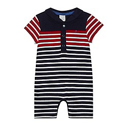 J by Jasper Conran - Baby boys' red striped romper suit