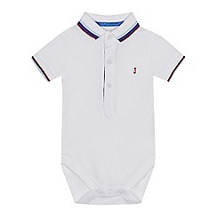 J by Jasper Conran - 'Baby boys' white pique polo bodysuit