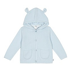 J by Jasper Conran - Babies light blue hooded cardigan