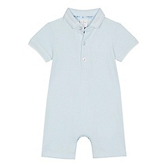 J by Jasper Conran - Baby boys' light blue polo romper suit