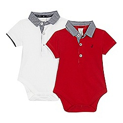 J by Jasper Conran - 'Set of 2 baby boys' red and white bodysuits