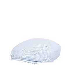 J by Jasper Conran - Baby boys' blue striped seersucker flat cap