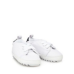 J by Jasper Conran - 'Baby boys' white canvas trainers