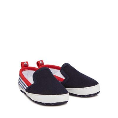J by Jasper Conran - Babies navy slip-on trainers