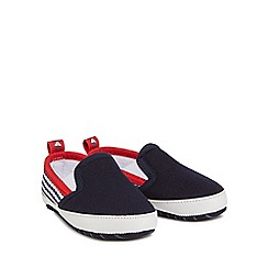 J by Jasper Conran - Babies navy slip-on trainers