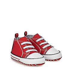 J by Jasper Conran - Baby boys' red canvas boots