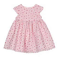 J by Jasper Conran - Baby girls' pink woven floral dress