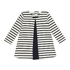 J by Jasper Conran - Baby girls' navy stripe print jersey dress