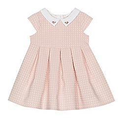 J by Jasper Conran - Baby girls' pink spot woven dress