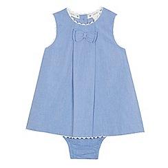J by Jasper Conran - Baby girls' light blue chambray dress and knickers set
