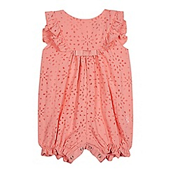 J by Jasper Conran - Baby girls' light pink floral burnout romper
