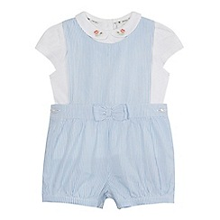 J by Jasper Conran - Baby girls' blue striped romper suit and white top set