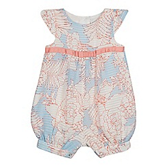 J by Jasper Conran - Baby girls' light pink striped burnout romper