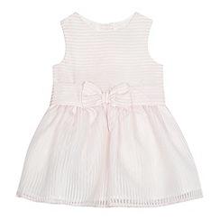 J by Jasper Conran - Baby girls' light pink burn out striped dress