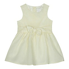 J by Jasper Conran - 'Baby girls' pale yellow burn out striped dress