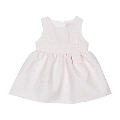 J by Jasper Conran - Baby girls' pink floral broderie dress
