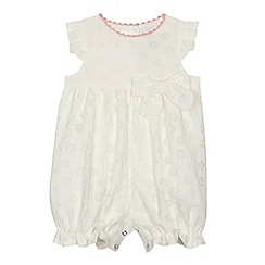 J by Jasper Conran - 'Baby girls' cream floral burn out romper suit
