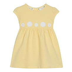 J by Jasper Conran - Baby girls' yellow textured spot dress