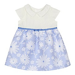 J by Jasper Conran - 'Baby girls' blue floral textured dress