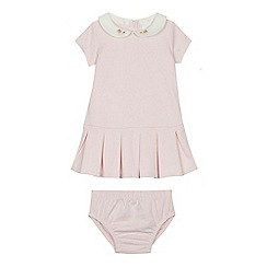J by Jasper Conran - 'Baby girls' pink dress and knickers set