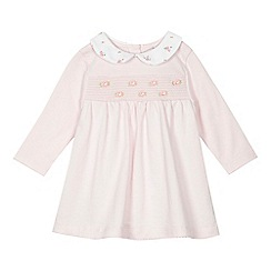 J by Jasper Conran - 'Baby girls' light pink mock dress romper suit