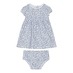 J by Jasper Conran - Baby girls' multi-coloured floral print dress and knickers set