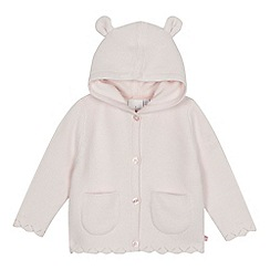 J by Jasper Conran - Baby girls' pale pink long sleeve cardigan