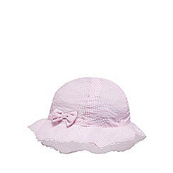 J by Jasper Conran - Baby girls' pink gingham check hat