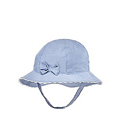 J by Jasper Conran - Baby girls' blue chambray rip tape hat