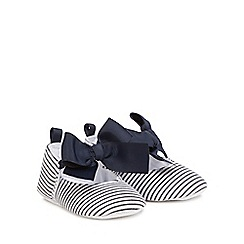 J by Jasper Conran - Babies white and navy pumps