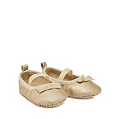 J by Jasper Conran - 'Baby girls' gold pumps